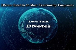 DNotes listed in 50 Most Trustworthy Companies
